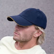 RC24P Result Headwear Low Profile Heavy Brushed Cotton Cap with Sandwich Peak